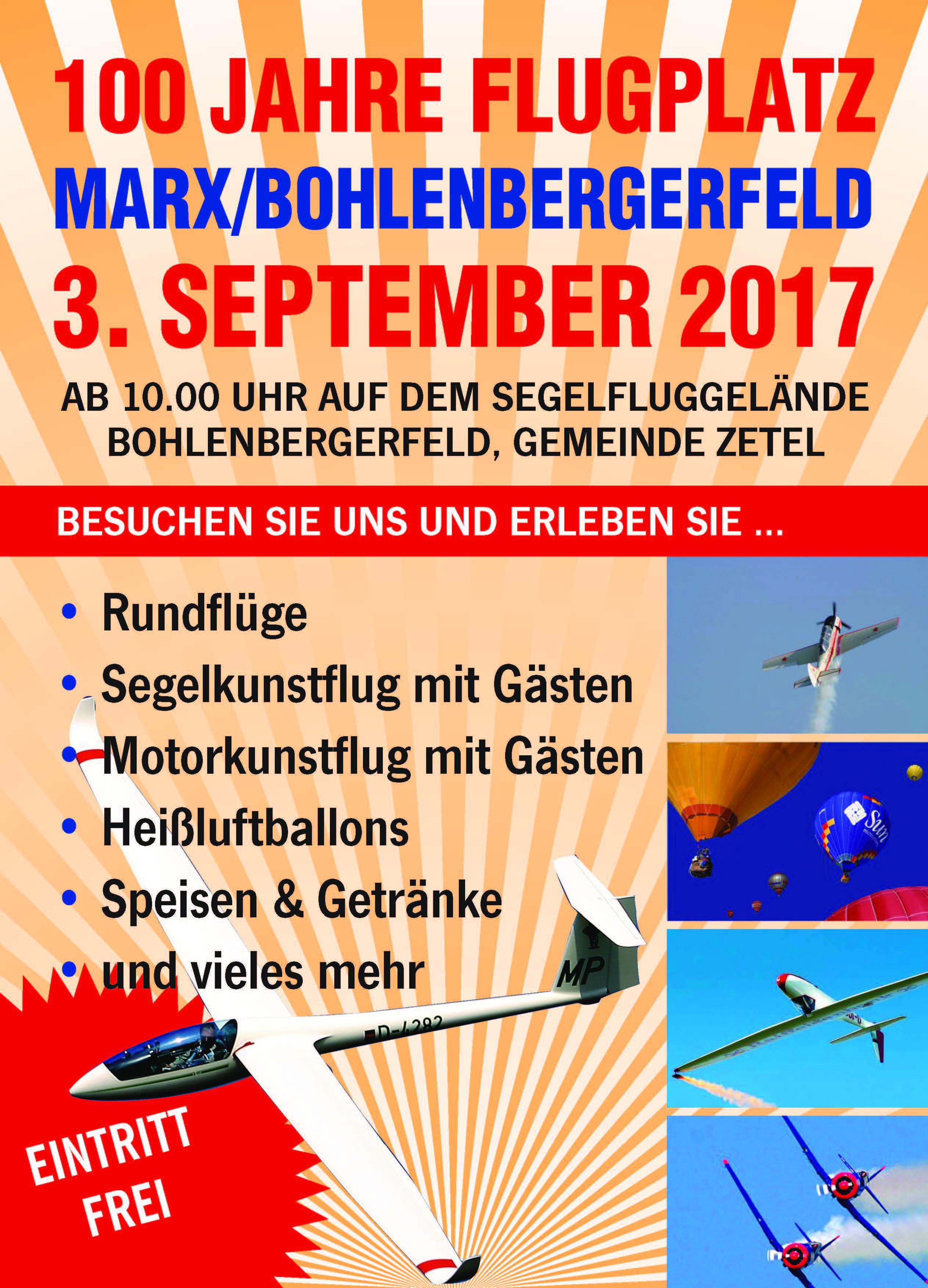 Einladung zum Flugplatzfest 2017